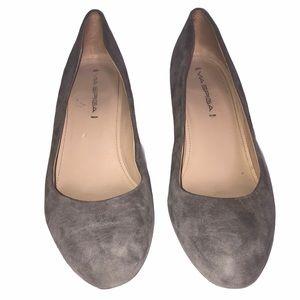 Via Spiga Gray Suede Wedge Heels Size 8